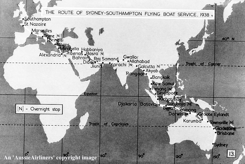 VH-ABF Short S-23 Empire Class Flying Boat